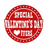 Special Valentines Day offers stamp