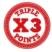 Earn x3 triple points stamp