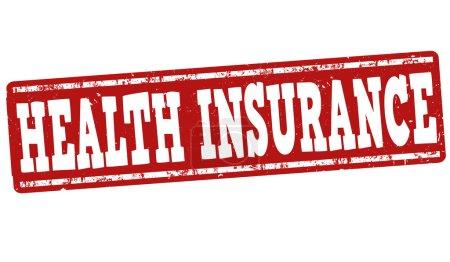 Illustration for Health insurance grunge rubber stamp on white background, vector illustration - Royalty Free Image