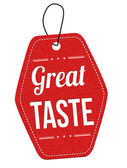 Great taste label or price tag