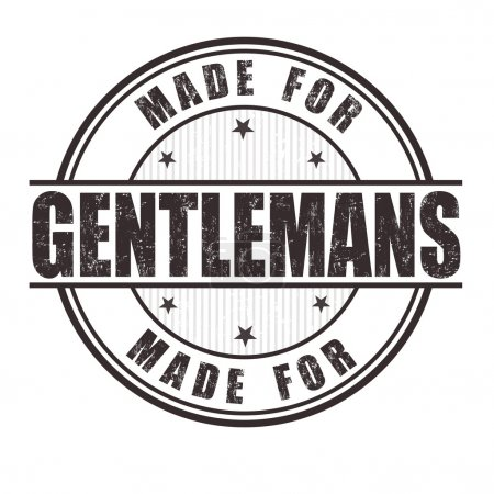 Illustration for Made for gentlemans grunge rubber stamp on white background, vector illustration - Royalty Free Image