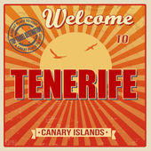 Tenerife Canary Islands vintage poster