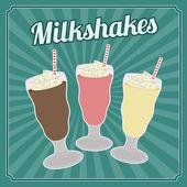 Milksakes vintage poster