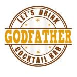 Постер, плакат: Godfather cocktail stamp