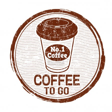 Coffee to go stamp