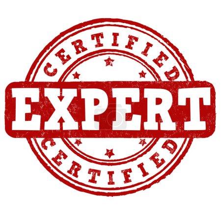 Expert certified stamp