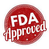 FDA approved grunge rubber stamp on white background vector illustration