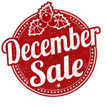 December sale stamp