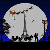 Holiday background illustration on Paris
