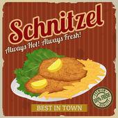 Schnitzel retro poster