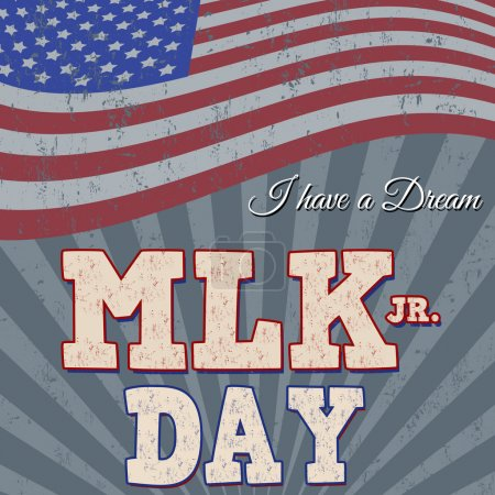 Martin Luther King Day typographic