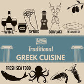 Traditional greek cuisine poster