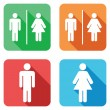 Men and women toilet signs...