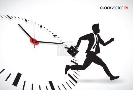 Business man beating the clock