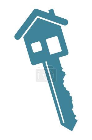 Illustration pour Clé de maison - image libre de droit