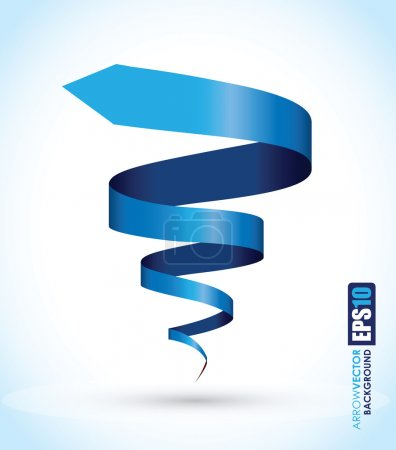 Illustration for Blue spiral background - Royalty Free Image