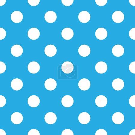 Illustration for Seamless blue polka dot background - Royalty Free Image