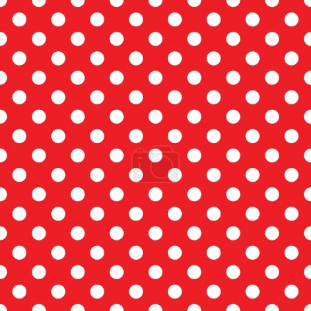 Illustration for Seamless red polka dot background - Royalty Free Image