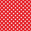 Seamless red polka dot background...