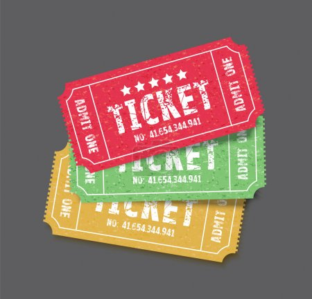 set of three tickets
