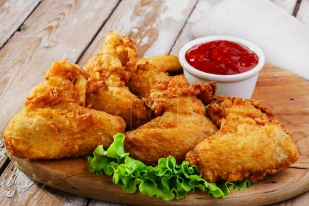 Photo for Fried chicken wings in batter - Royalty Free Image