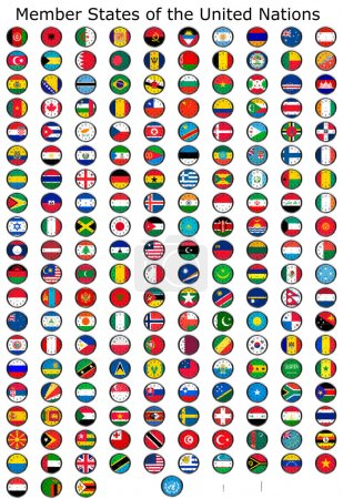flag of the world clocks