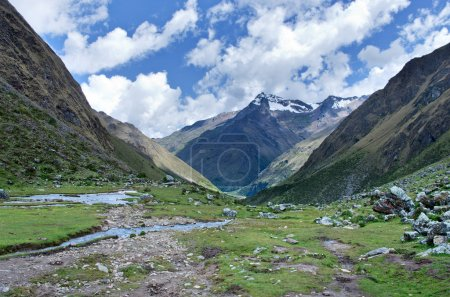 Photo for Trekking in mountains, Salkantay Trekking, Peru, South America - Royalty Free Image