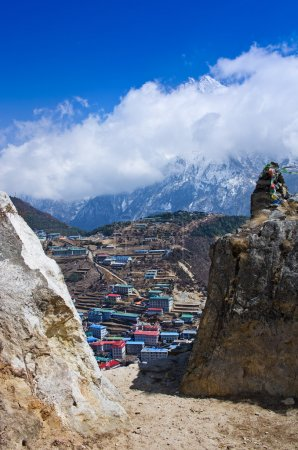 View on Namche Bazar. Nepal