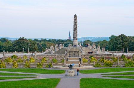 Photo pour Statues dans le parc Vigeland à Oslo, Norvège - image libre de droit