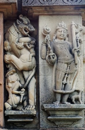 Stone carved bas relief in Hindu temple