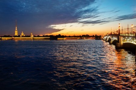 Peter and Paul fortress and Palace bridge