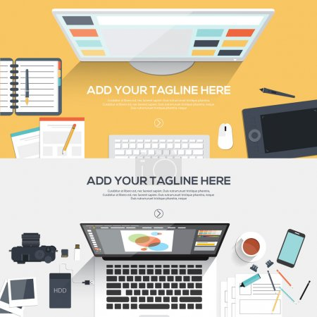 Flat design illustration concept