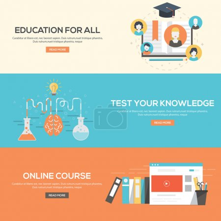 Flat design concepts for education for all,online ...