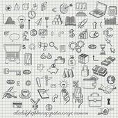 Set of hand drawn icons