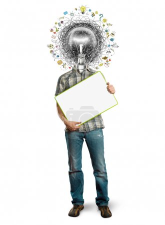 Photo for Lamp head man have got a great idea - Royalty Free Image