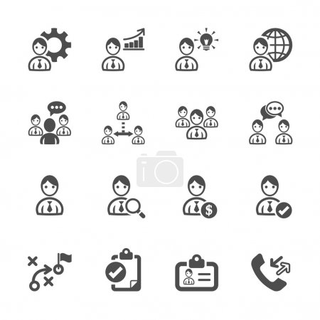 Illustration for Human resource management icon set, vector eps10. - Royalty Free Image