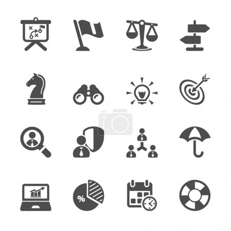 Illustration for Business and strategy icon set 2, vector eps10. - Royalty Free Image