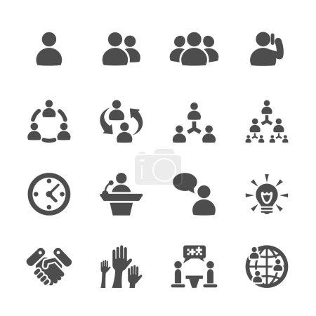 Illustration pour Icône d'affaires et de gestion jeu 7, vecteur eps10 . - image libre de droit