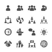 business and management icon set 7 vector eps10