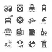 hotel and vacation icon set vector eps10