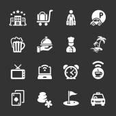 hotel icon set 2 vector eps10