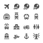 transportation and infrastructure icon set vector eps10