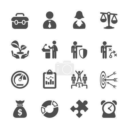 Illustration pour Jeu d'icônes de l'entreprise 2, vecteur eps10 - image libre de droit
