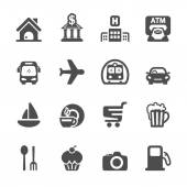 travel map location icon set vector eps10