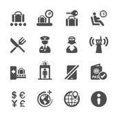 Cestování a letiště ikonu set 2, vector eps10