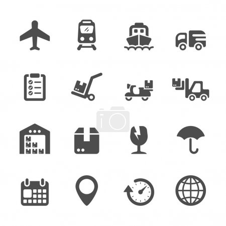 logistic icon set, vector eps10
