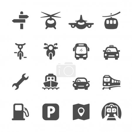 Photo for Transportation icon set 2, vector eps 10. - Royalty Free Image
