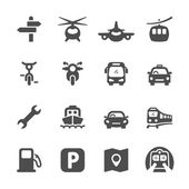 transportation icon set 2 vector eps 10