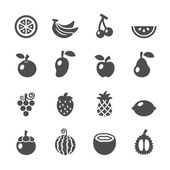 Fruit icon set vector eps10