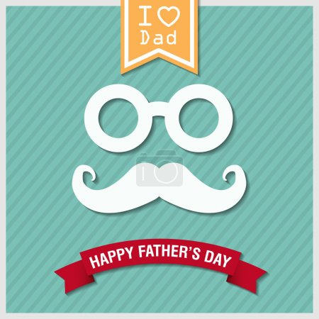 Illustration for Happy fathers day vintage retro style background, vector eps10. - Royalty Free Image